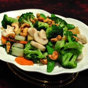 Mixed Seasonal Vegetables with Cashews
