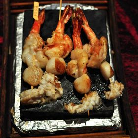 Stone Grilled Seafood