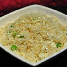 Diced Vegetable Fried Rice with Fin and Egg White
